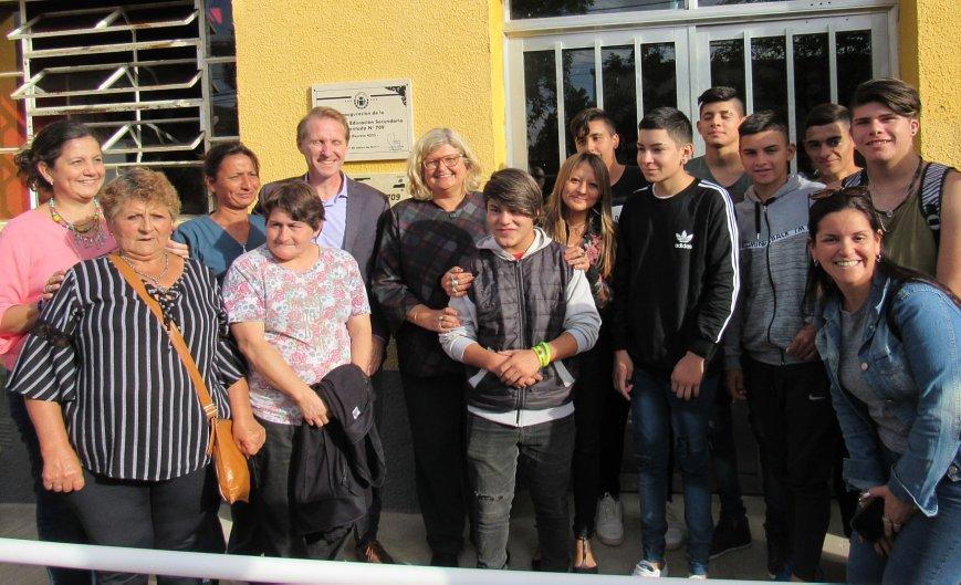 Sunchales: Inauguraron la Escuela Secundaria Nº 709