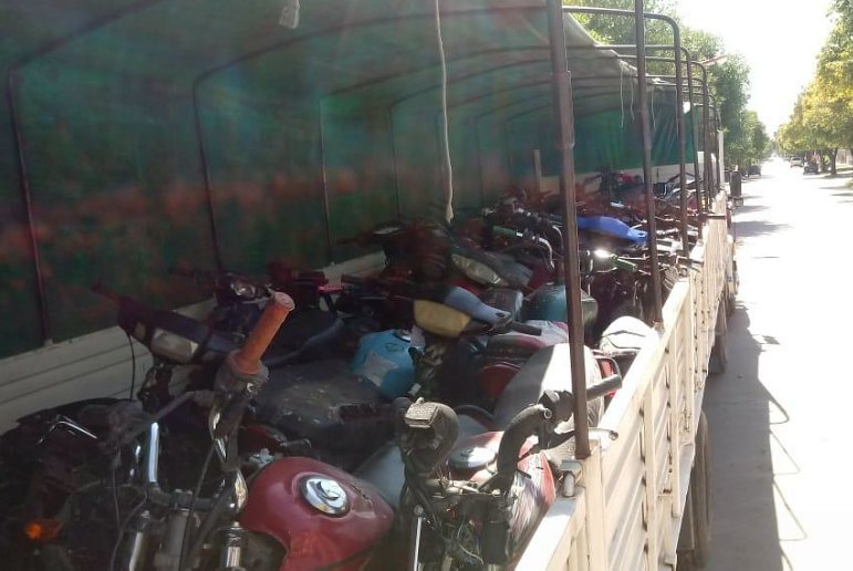 Brinkmann: Trasladan decenas de motos a Córdoba