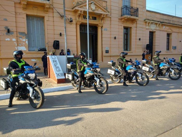 Entregaron motos policiales a San Cristóbal, Ceres y San Guillermo