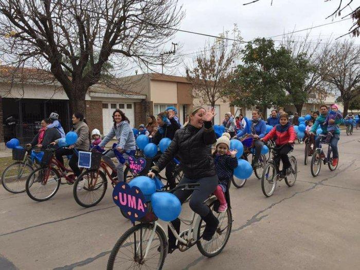 Suardi: El Jardín de Infantes concretó su tradicional bicicleteada