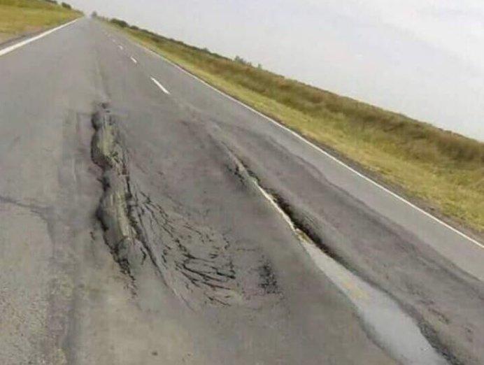 Lamentable estado de la ruta E 95