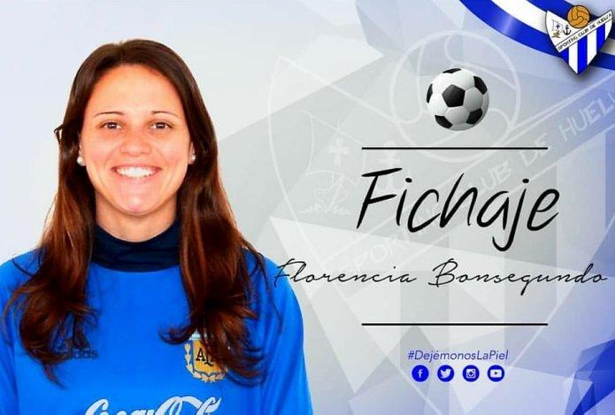 Florencia Bonsegundo ya es jugadora del Huelva